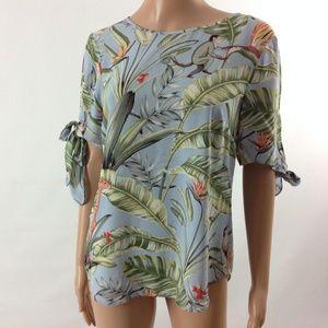 Ann Taylor Women's Blouse Top Monkey Print Size XS